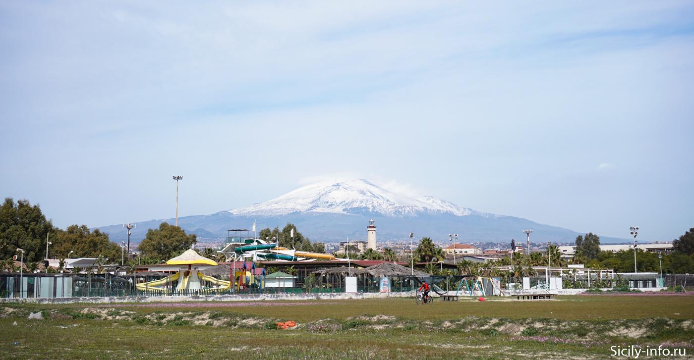 Этна в Феврале
