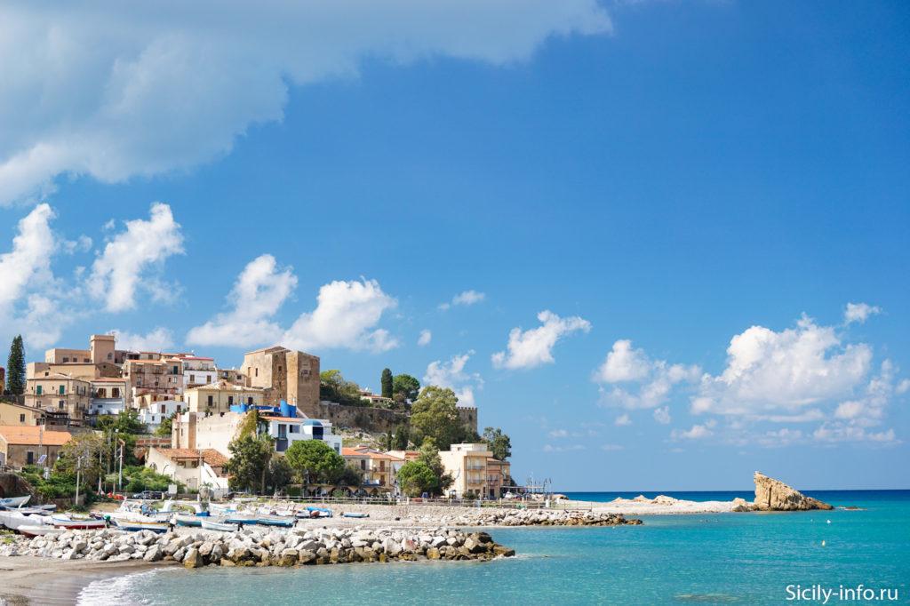 Пляж Кастель ди Туса Сицилия