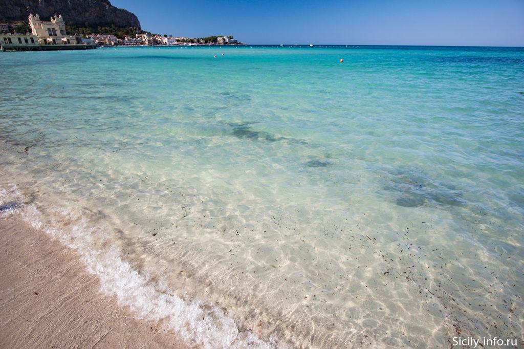 Пляж Монделло прозрачная вода