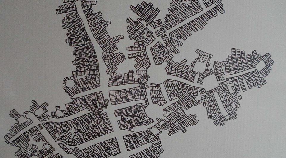Карта катакомб Сан-Джованни в Сиракузе