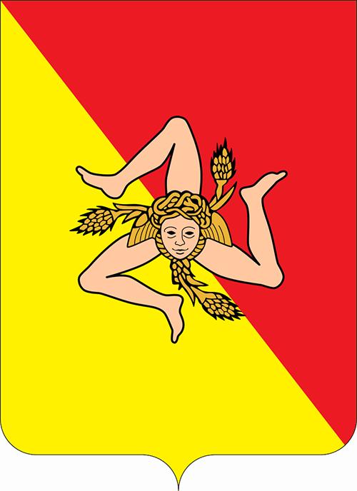 Тринакрия на флаге Сицилии