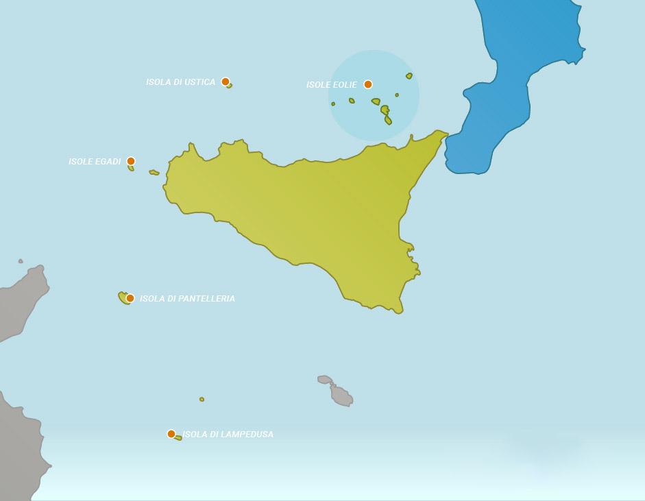 Острова Сицилии на Карте