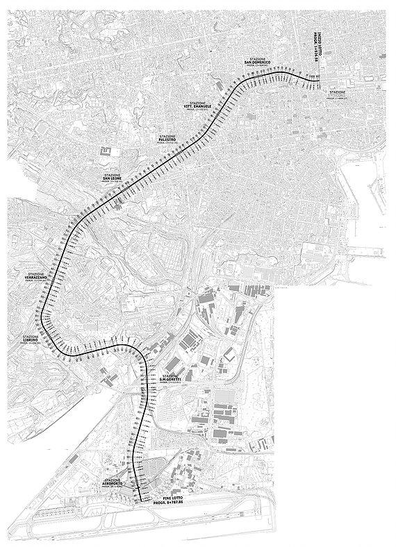 Проект метро до аэропорта Катании